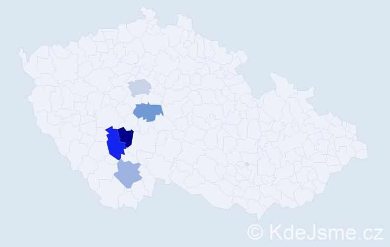 Příjmení: 'Červenský', počet výskytů 8 v celé ČR