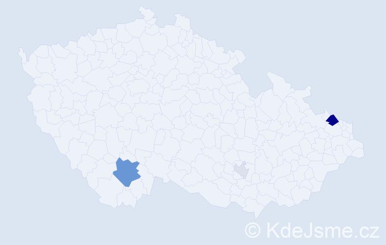 Příjmení: 'Haľamová', počet výskytů 9 v celé ČR