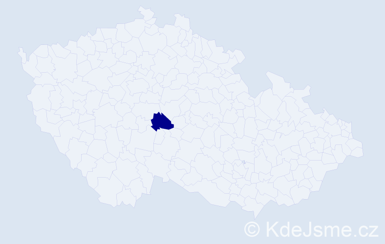"""Příjmení: '""""Čermák Plachá""""', počet výskytů 1 v celé ČR"""