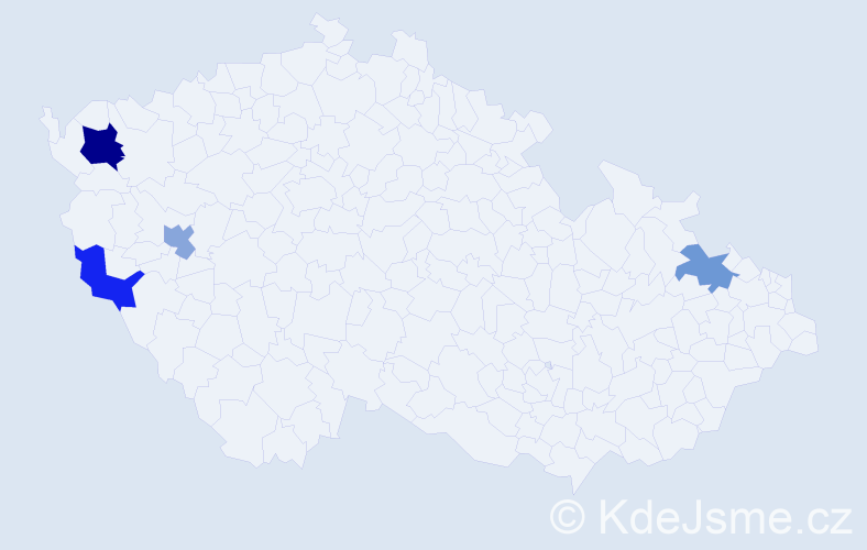 Příjmení: 'Eibisch', počet výskytů 11 v celé ČR