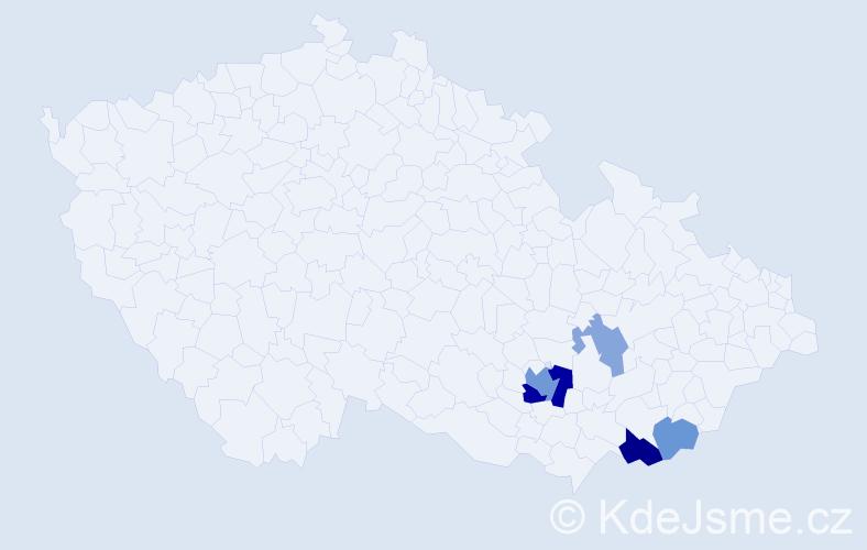 Příjmení: 'Graffe', počet výskytů 11 v celé ČR