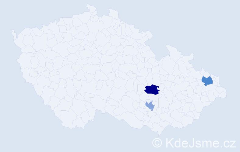 Příjmení: 'Asztemborská', počet výskytů 4 v celé ČR