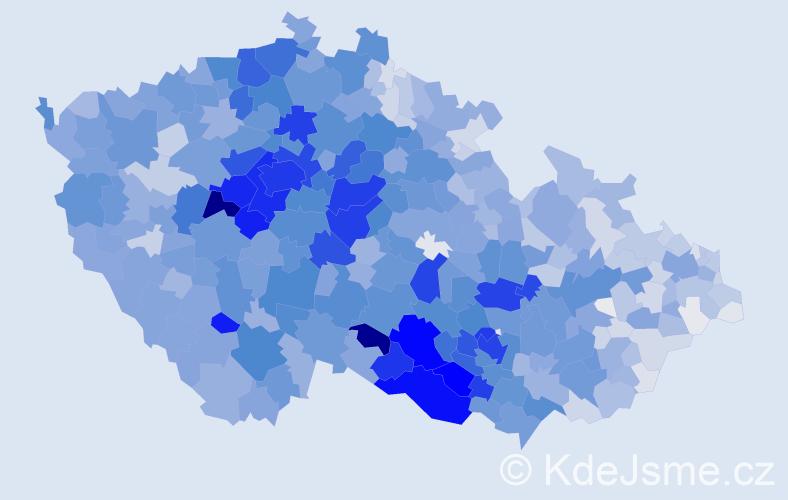Příjmení: 'Veselá', počet výskytů 13437 v celé ČR