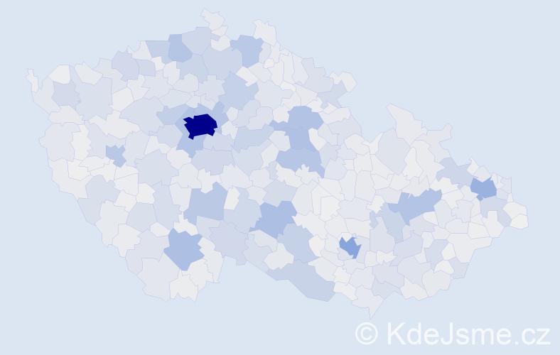 Příjmení: 'Novák', počet výskytů 33869 v celé ČR