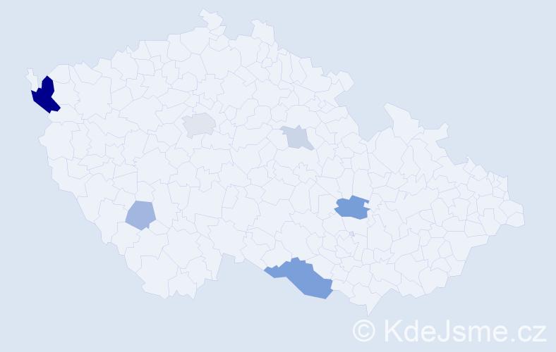 Příjmení: 'Kaššaiová', počet výskytů 17 v celé ČR