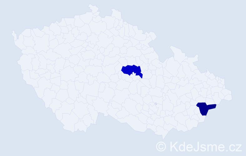 Příjmení: 'Bandžáková', počet výskytů 2 v celé ČR