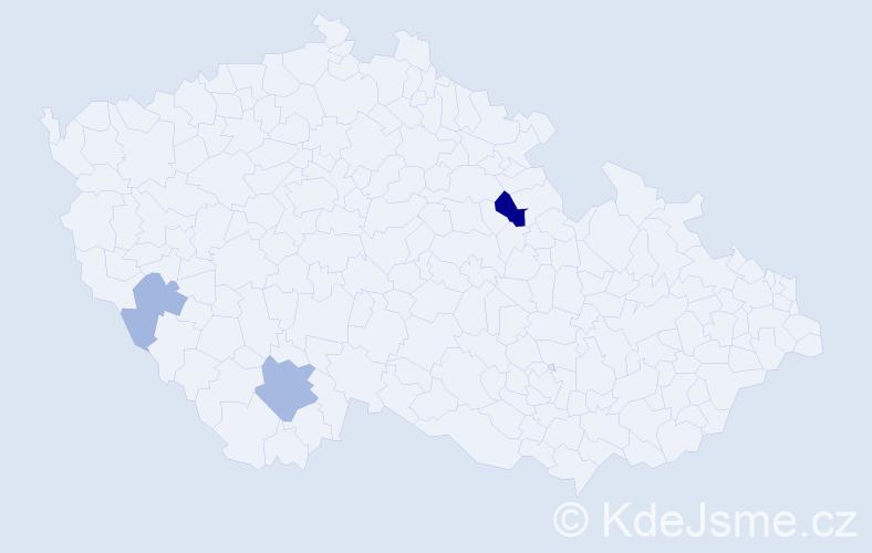 Příjmení: 'Charalambousová', počet výskytů 6 v celé ČR