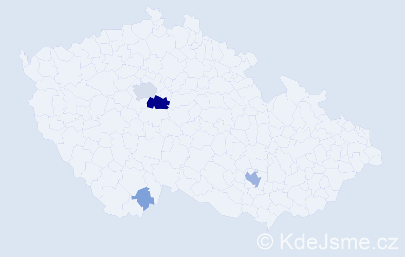 Příjmení: 'Brummer', počet výskytů 27 v celé ČR