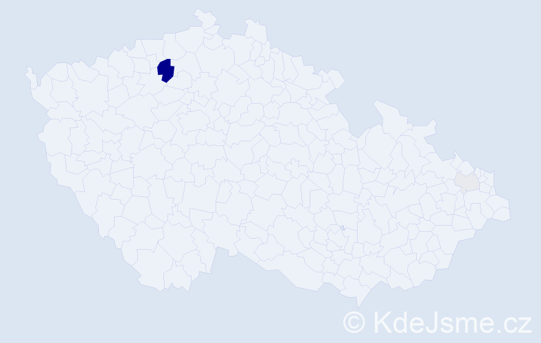Příjmení: 'Creeps', počet výskytů 8 v celé ČR