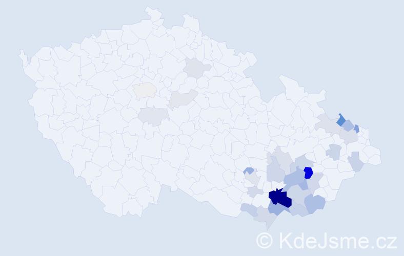Příjmení: 'Lecián', počet výskytů 111 v celé ČR