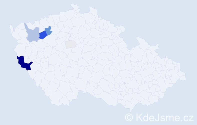 Příjmení: 'Leityová', počet výskytů 8 v celé ČR