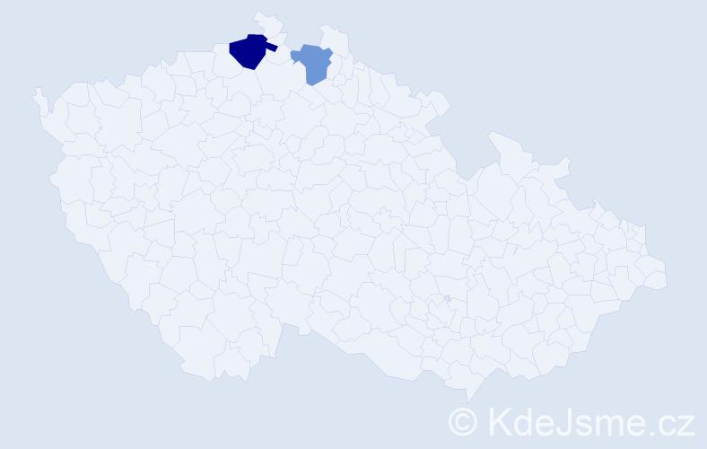 Příjmení: 'Finklár', počet výskytů 3 v celé ČR