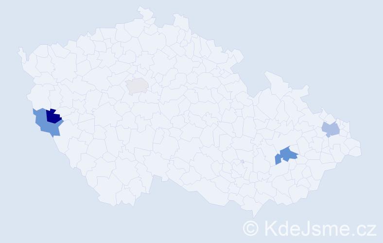 Příjmení: 'Achbergerová', počet výskytů 7 v celé ČR