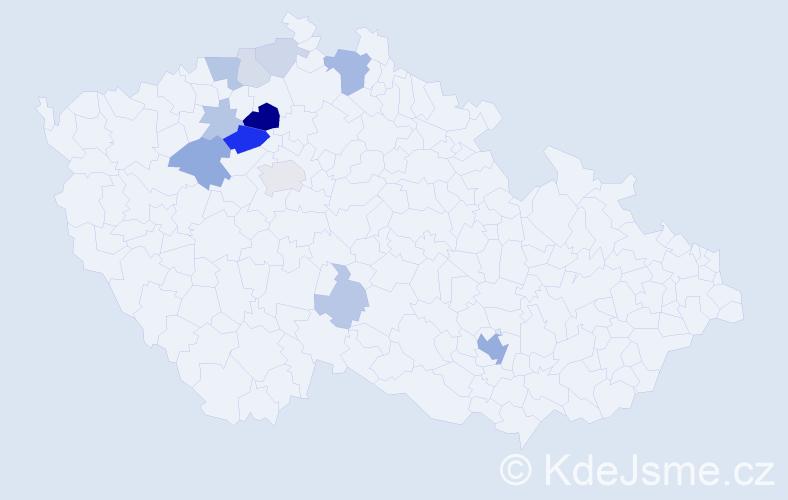 Příjmení: 'Lafantová', počet výskytů 33 v celé ČR
