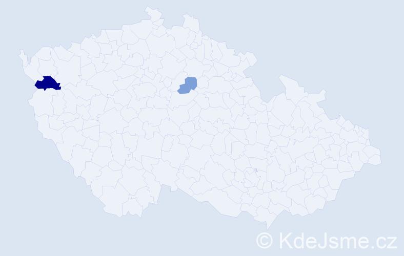 Příjmení: 'Lepej', počet výskytů 4 v celé ČR