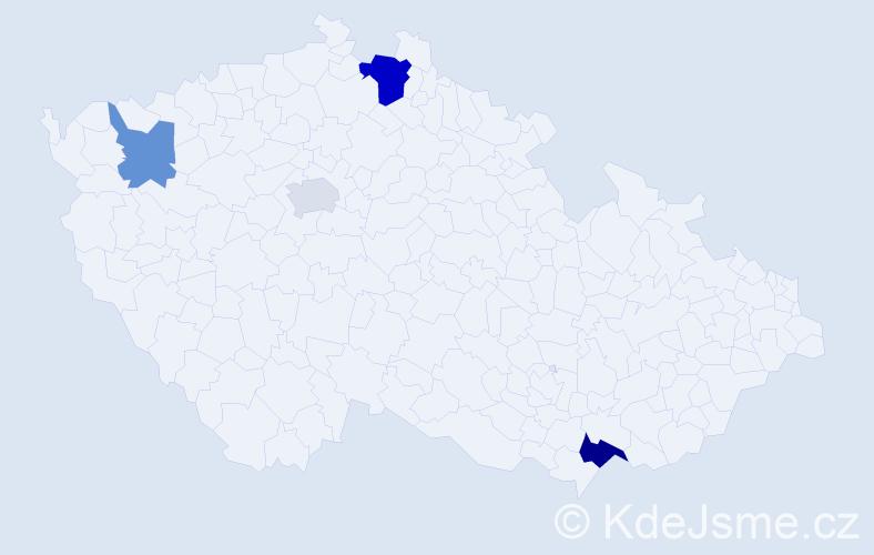 Příjmení: 'Baaderová', počet výskytů 7 v celé ČR