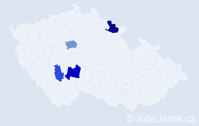 Příjmení: 'Elhenická', počet výskytů 12 v celé ČR