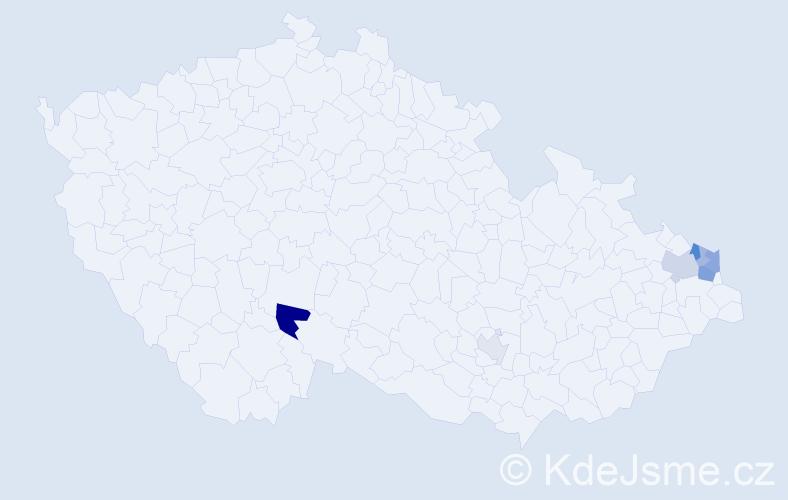 Příjmení: 'Boraková', počet výskytů 14 v celé ČR