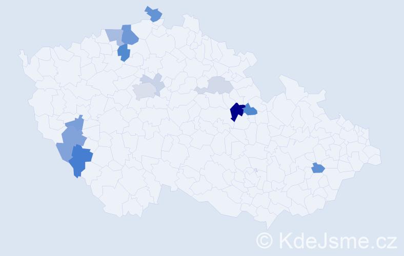 Příjmení: 'Kechner', počet výskytů 31 v celé ČR