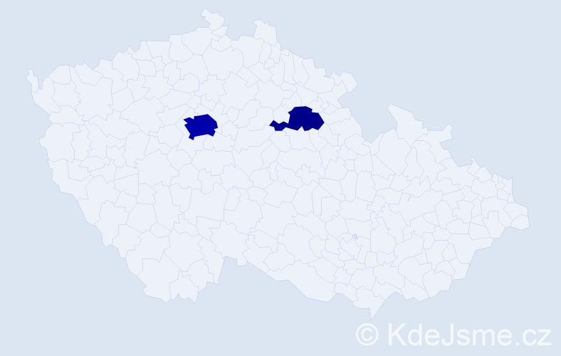 Příjmení: 'Bruothová', počet výskytů 7 v celé ČR