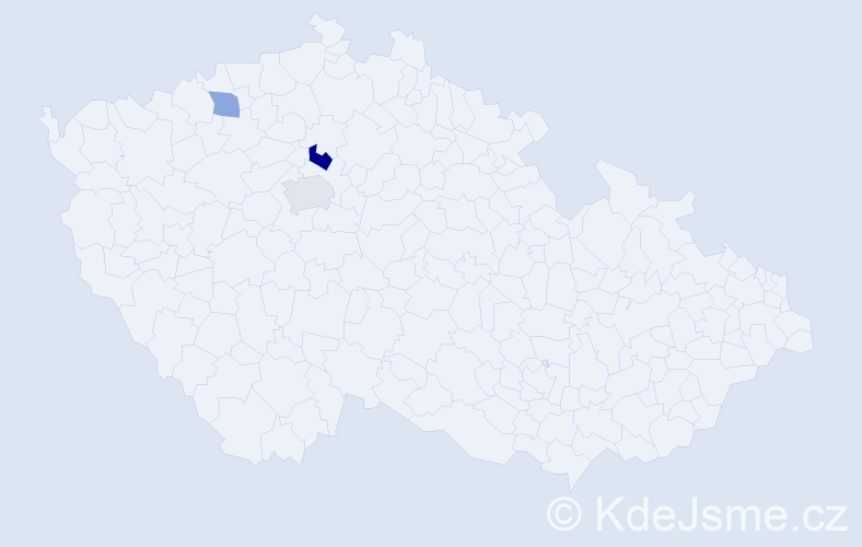 Příjmení: 'Čečelická', počet výskytů 9 v celé ČR