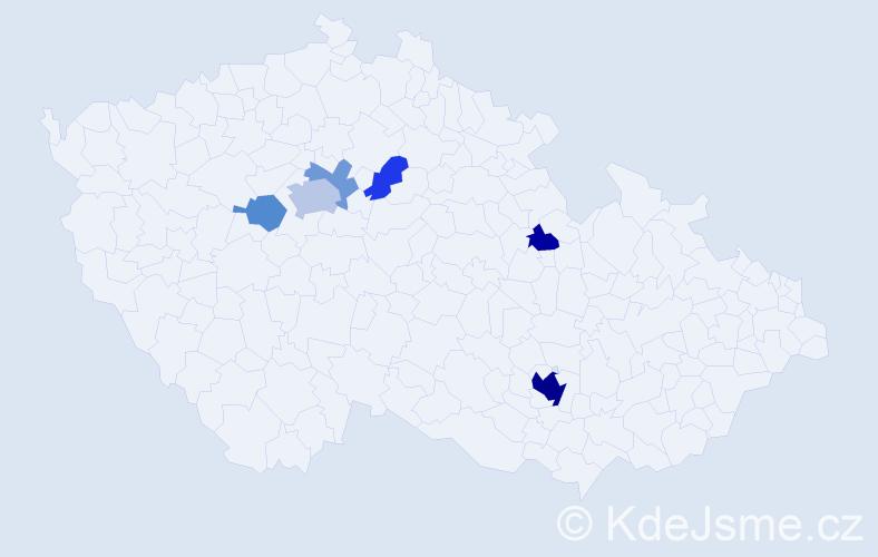 Příjmení: 'Čištínová', počet výskytů 16 v celé ČR
