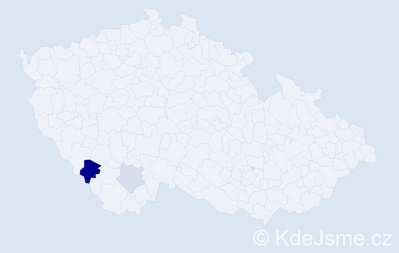 Příjmení: 'Ketzer', počet výskytů 4 v celé ČR