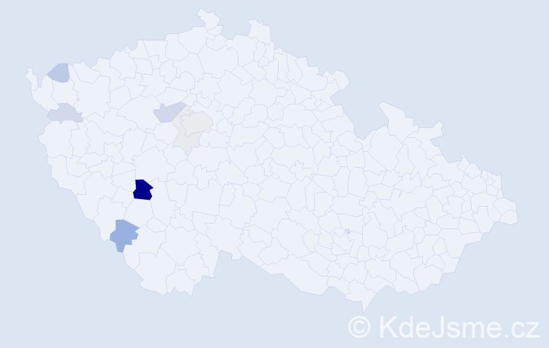 Příjmení: 'Fontánová', počet výskytů 23 v celé ČR