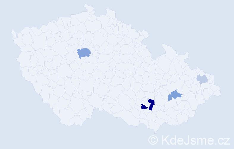 Příjmení: 'Knottová', počet výskytů 13 v celé ČR
