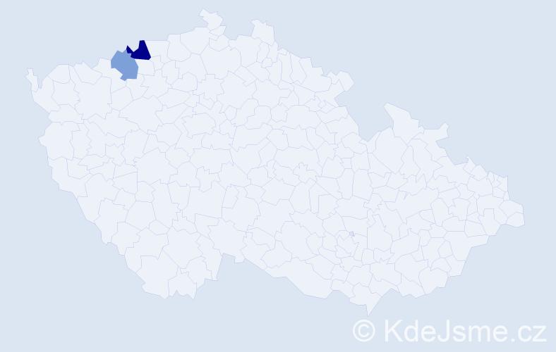 Příjmení: 'Hollicková', počet výskytů 3 v celé ČR