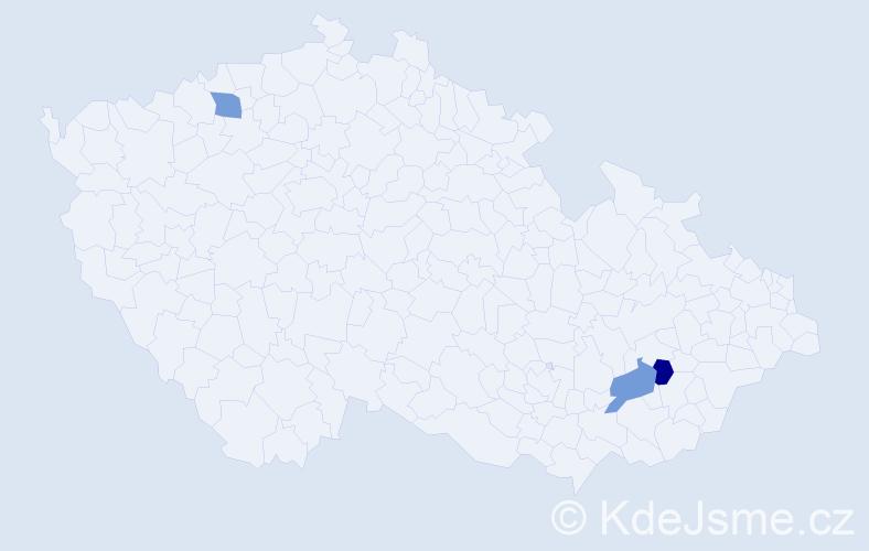 Příjmení: 'Kürschnerová', počet výskytů 3 v celé ČR