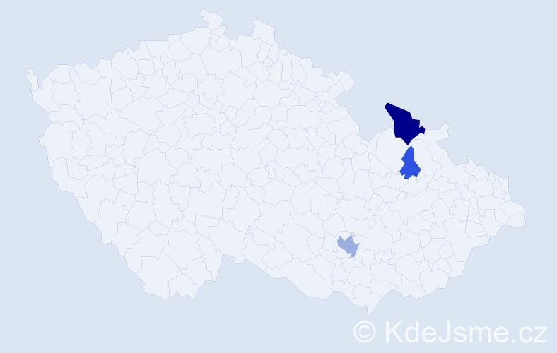 Příjmení: 'Almášy', počet výskytů 9 v celé ČR