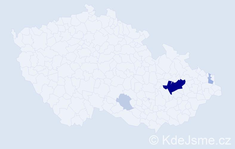 Příjmení: 'Gasta', počet výskytů 20 v celé ČR