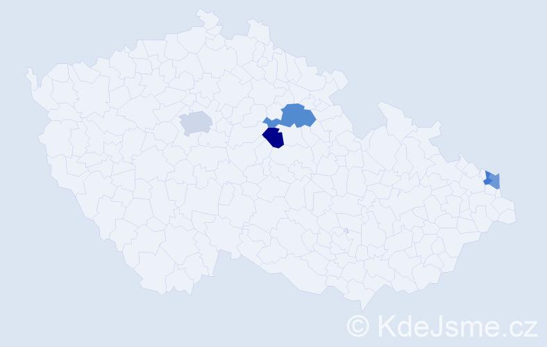 Příjmení: 'Kopczyk', počet výskytů 7 v celé ČR