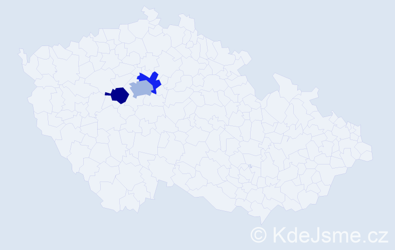 Příjmení: 'Benyovszky', počet výskytů 4 v celé ČR