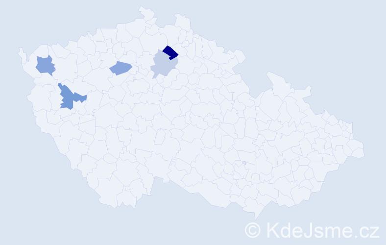 Příjmení: 'Bobenič', počet výskytů 8 v celé ČR