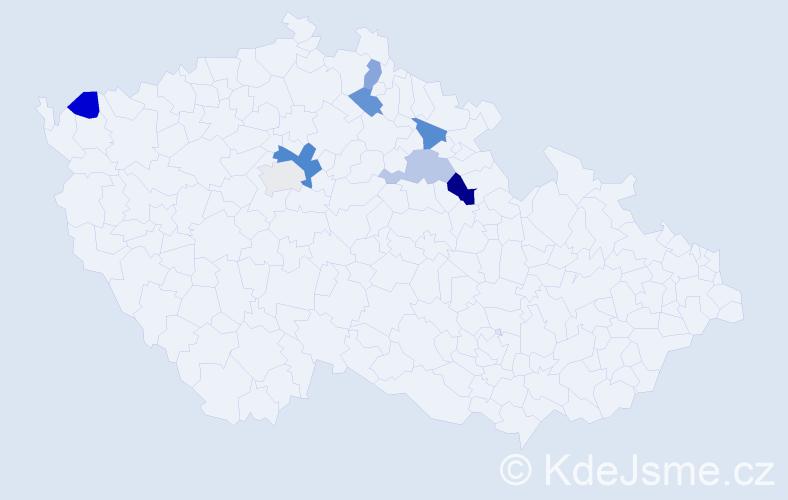 Příjmení: 'Hamm', počet výskytů 11 v celé ČR