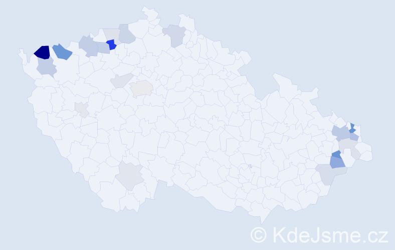 Příjmení: 'Balaž', počet výskytů 48 v celé ČR