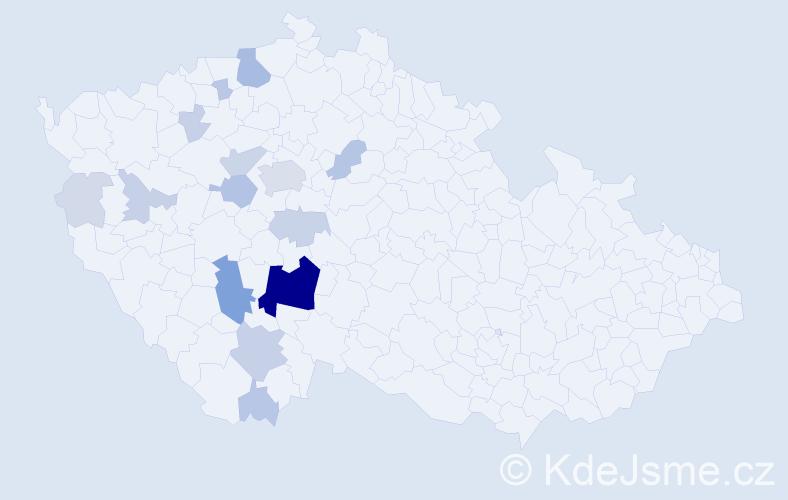 Příjmení: 'Čítková', počet výskytů 76 v celé ČR
