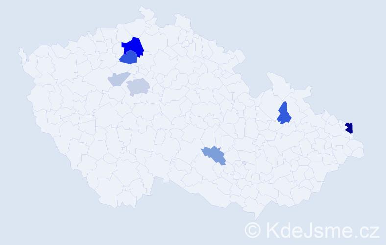 Příjmení: 'Janteková', počet výskytů 23 v celé ČR