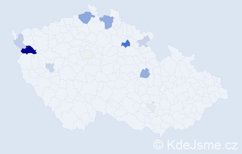 Příjmení: 'Cinkanič', počet výskytů 21 v celé ČR