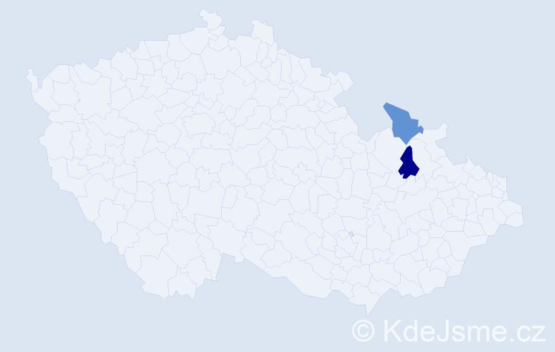 Příjmení: 'Laskaroglu', počet výskytů 4 v celé ČR
