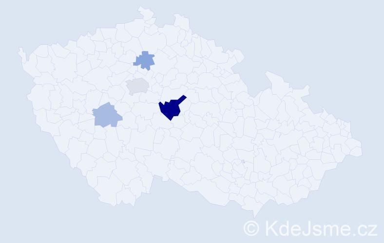 Příjmení: 'Cikler', počet výskytů 10 v celé ČR