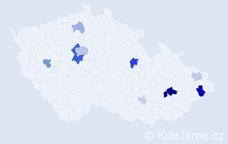Příjmení: 'Čelustková', počet výskytů 32 v celé ČR