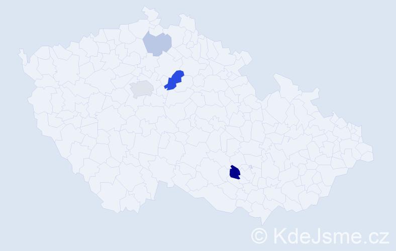 Příjmení: 'Elia', počet výskytů 10 v celé ČR