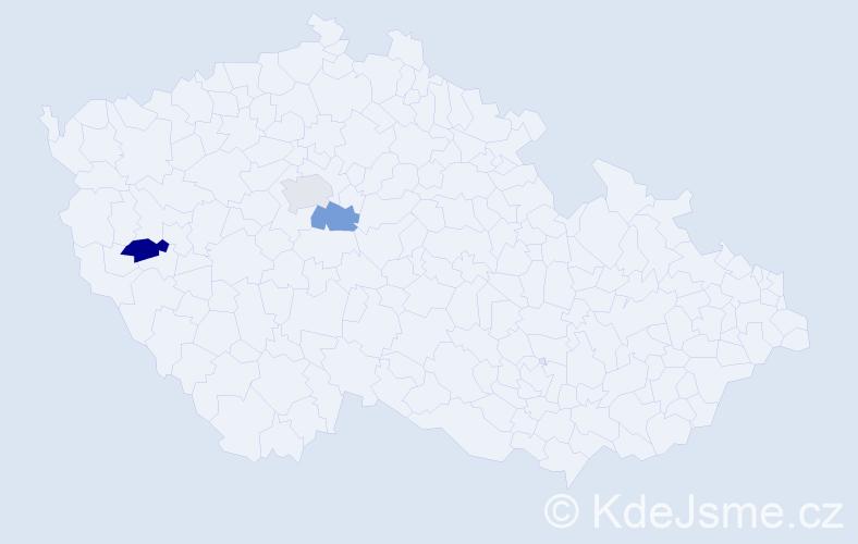 Příjmení: 'Čenteš', počet výskytů 10 v celé ČR