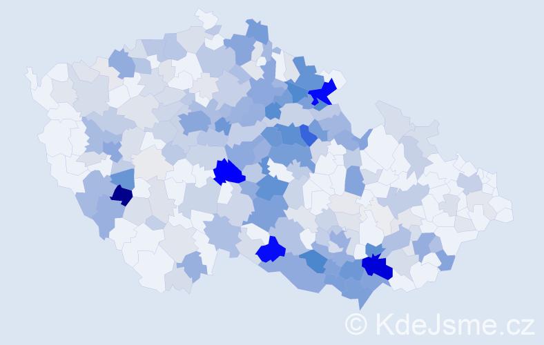 Příjmení: 'Forman', počet výskytů 1000 v celé ČR
