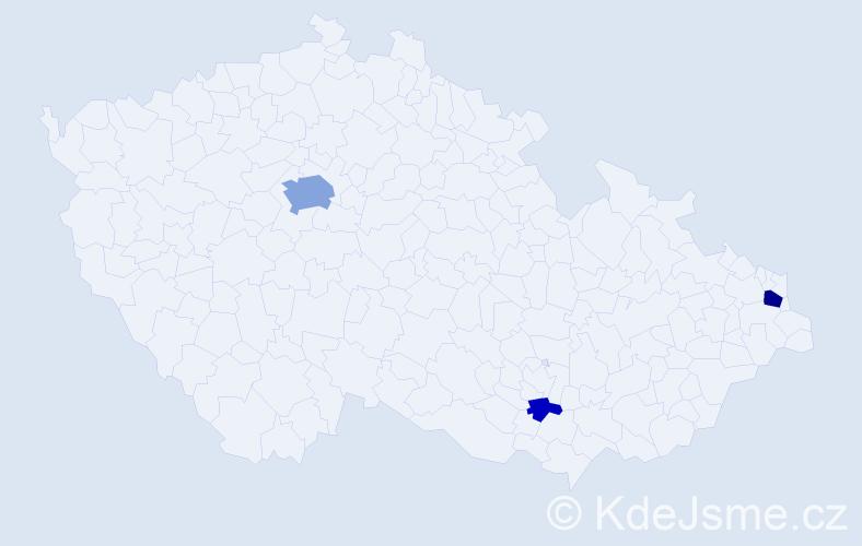 Příjmení: 'Eineigel', počet výskytů 10 v celé ČR