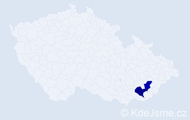 Příjmení: 'Kalaitzidisová', počet výskytů 2 v celé ČR