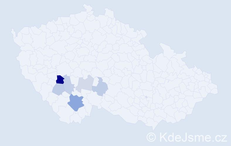 Příjmení: 'Filcová', počet výskytů 12 v celé ČR